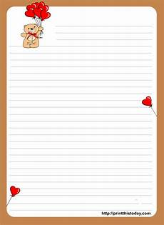 Letter Writing Paper Template Teddy Bear Writing Paper For Kids