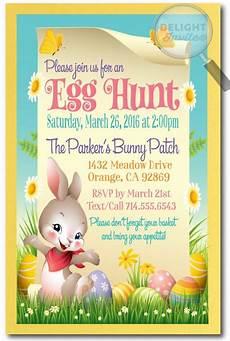 Egg Hunt Invitations Whimsical Easter Egg Hunt Invitations Easter Egg Hunt