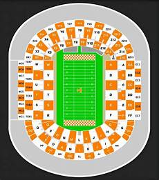 Tennessee Vols Football Seating Chart Neyland Stadium Seating Chart With Rows
