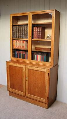 antiques atlas large light oak cabinet bookcase