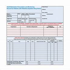 Drug Administration Chart 9 Patient Chart Templates Free Sample Example Format