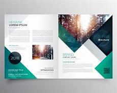 Downloadable Brochures Green Business Brochure Template Free Vector