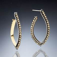 Kinzig Design Jewelry Gold Inside Hoop Earrings By Susan Kinzig Gold Silver