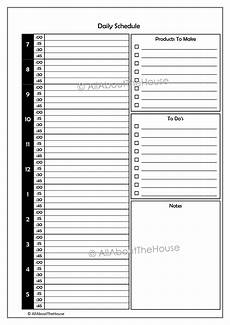 Daily Sales Planner Template Etsy Business Planner Allaboutthehouse Printables