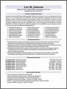 Example Management Resume Property Manager Resume Sample Sample Resumes