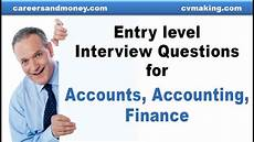 Interview Questions Accounting Entry Level Interview Questions For Accounts Accounting