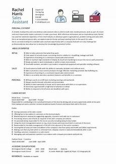 assistant cv sample sales assistant cv example shop store resume retail