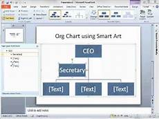 How To Create Template For Powerpoint How To Make An Org Chart In Powerpoint 2010 Using Smartart
