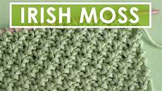 how to knit the moss knit stitch pattern with