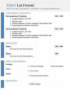Free Cv Template Doc Free Curriculum Vitae Templates Doc Format 618 624