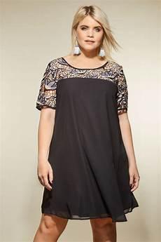 size 16 clothes lovedrobe black shift dress with lace yoke