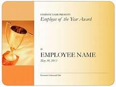 Employee Award Templates Free Employee Of The Year Certificate Employee Of The Year