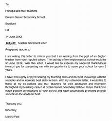 Retirement Letters Examples Free 20 Sample Useful Retirement Letter Templates In