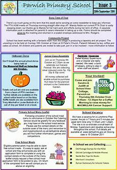 Newsletter Examples For Schools School Newsletter 3 Nominations For Pta Committee