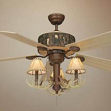 Log Cabin Ceiling Fans With Lights 52 Quot Vaxcel Log Cabin Ceiling Fan With Antler 3 Light Kit
