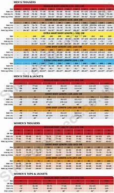 Snickers Trousers Size Chart Size Chart Size Chart Snickers Workwear Mens Trousers
