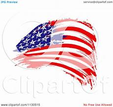 American Flag Watermarks Clipart Of A Painted American Flag Royalty Free Cgi