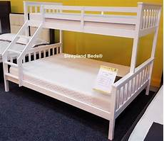 vida living salix bunk bed in white sleepland beds