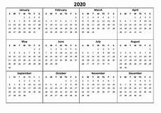 12 Months Calendar 2020 Printable Printable 12 Month Calendar 2020 Various Size Calendar
