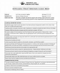 Clinic Assistant Duties Free 7 Medical Administrative Assistant Job Description