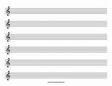 Music Staff Sheet Blank Treble Clef Staff Paper Free Sheet Music Template Pdf
