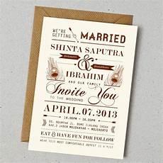 konsep undangan pernikahan indonesia a wedding