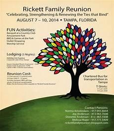 Reunion Flyer Template Rickett Family Reunion Blog