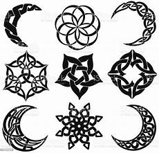 Moon And Stars Design Celtic Knot Moons Stars Shapes Stock Vector Art 165800854