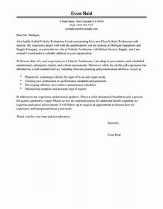 Auto Mechanic Cover Letter Outstanding Transportation Automotive Technician Cover