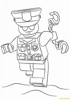 lego officer coloring page free coloring pages