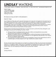 Cover Letter For Security Position Director Of Security Cover Letter Sample Cover Letter
