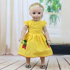cheap american doll clothes stock cheap yellow american doll dress 18 inch doll