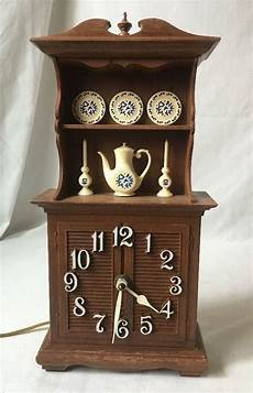 vintage spartus wall clock china cabinet kitchen hutch w