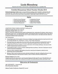 Best Teacher Resume Elementary School Teacher Resume Template Monster Com