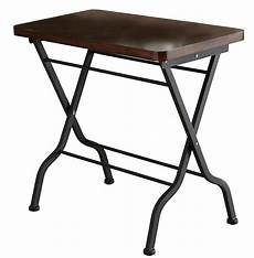 metal accent table 3309 cherry charcoal black metal folding accent table