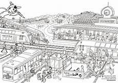 Ausmalbilder Zum Ausdrucken Zug Ausmalbild Oli Auf Dem Bahnhof