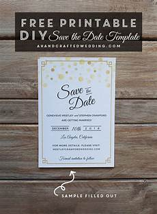 Free Downloadable Save The Date Templates Free Modern Gold Diy Save The Date Template Download This