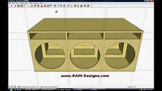 Ram Designs Ram Designs Sundown Audio Sa 15 Ported Box Design Youtube