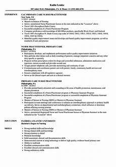 Nurse Practitioner Resume Primary Care Nurse Practitioner Resume Samples Velvet Jobs