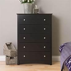prepac sonoma 5 drawer black chest bdc 3345 k the home depot