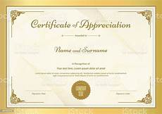 Token Of Appreciation Certificate Certificate Of Appreciation Template With Vintage Gold