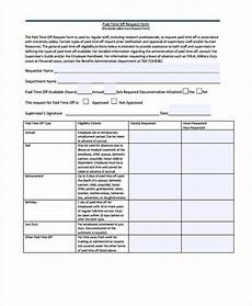 Paid Time Off Forms Free 49 Sample Request Forms In Pdf Excel Ms Word