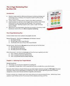 1 Page Marketing Plan 7 One Page Marketing Plan Templates Pdf Word Free
