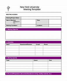 Word Template Agenda Word Agenda Template 6 Free Word Documents Download