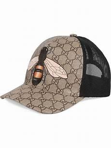 supreme hats uk neutral gucci bee print gg supreme baseball hat farfetch