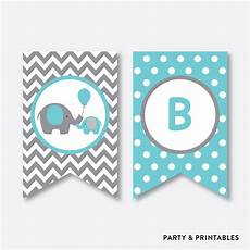 Baby Shower Banner Elephant Party Banner Baby Shower Banner Non