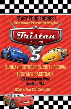 Cars Birthday Invites Birthday Invitation Cars Theme