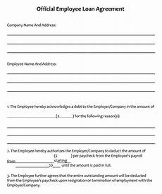 Company Loan To Employee Agreement 45 Loan Agreement Templates Amp Samples Write A Perfect