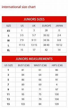 Juniors Size Chart Macy S For Juniors Includes