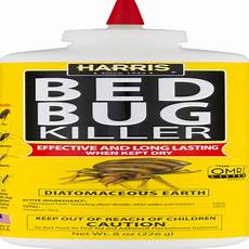 harris diatomaceous earth bed bug killer 8oz powder